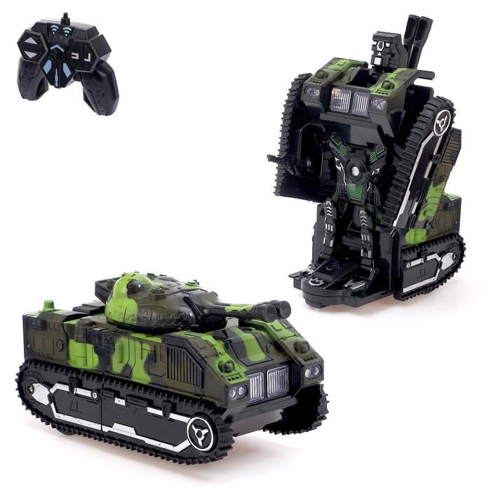 """Робот-трансформер радиоуправляемый """"Танк"""", световые и звуковые эффекты"""