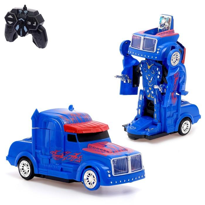 """Робот-трансформер радиоуправляемый """"Оптимус"""", световые и звуковые эффекты"""