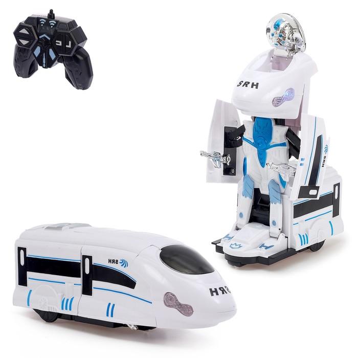 """Робот-трансформер радиоуправляемый """"Поезд"""", световые и звуковые эффекты"""