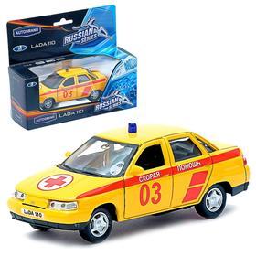 Машина металлическая «Lada 2110», масштаб 1:34, цвета МИКС