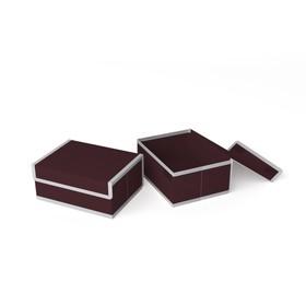 Короб для хранения жёсткий «Классик бордо», 23х17х10 см