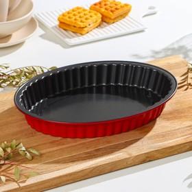 Форма для выпечки Доляна «Ренард. Рифлёный Овал», 30×22 см, антипригарное покрытие