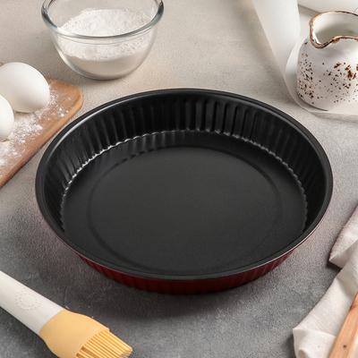 Форма для выпечки Доляна «Ренард. Рифлёный круг», 25×4 см, антипригарное покрытие - Фото 1