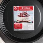Форма для выпечки Доляна «Ренард. Рифлёный круг», 25×4 см, антипригарное покрытие - Фото 4