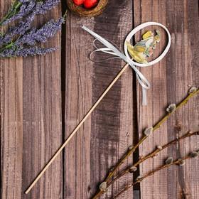 Декор на палочке «Пасхальный зайчик» 0.5×6×31 см