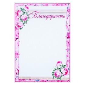 Благодарность 'Розовые цветы' Ош