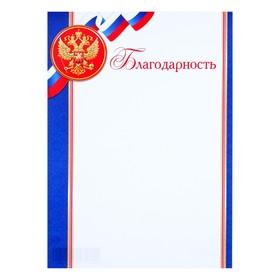 Благодарность 'Триколор' синие полосы, герб РФ Ош