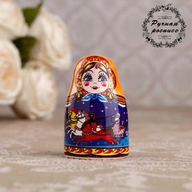 Сувенир напёрсток 'Матрёшка. Русские просторы', керамика Ош