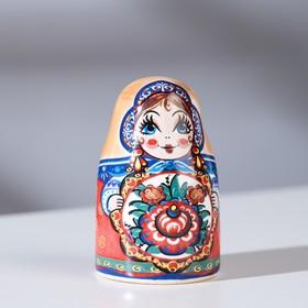 Сувенир напёрсток 'Матрёшка. Цветок', керамика Ош