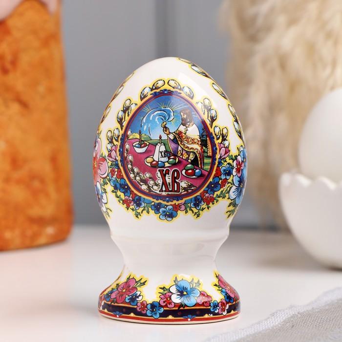 Сувенир Яйцо большое. Верба, 9 см