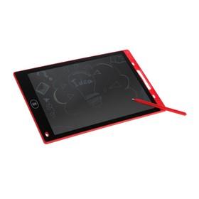 Планшет для рисования и заметок LuazON LC-03, 12', функция блокировки, красный Ош