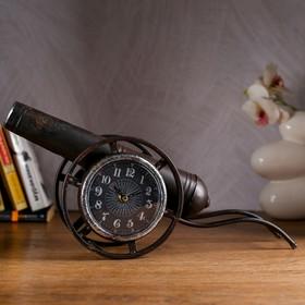 Часы настольные 'Пушка', d=10 см Ош
