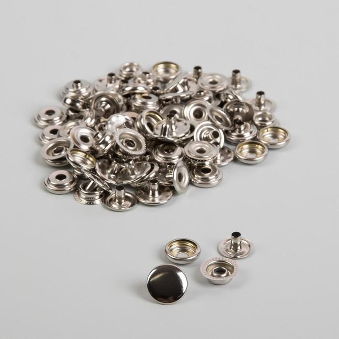 Кнопка О-образная, d = 15 мм, цвет никель