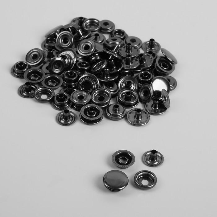 Кнопки, d = 15 мм, О-образные, цвет чёрный никель