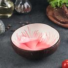 Чаша «Меконг», 13×6 см, из скорлупы кокосового ореха, цвет красный