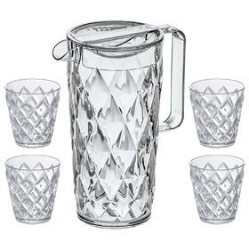 Набор из кувшина 1.6 л и 4 стаканов 200 мл