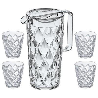 Набор из кувшина 1.6 л и 4 стаканов 200 мл - Фото 1