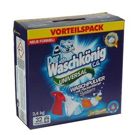 Стиральный порошок Der Waschkonig C.G. Универсальный, картонная коробка, УЦЕНКА, 2,4 кг Ош