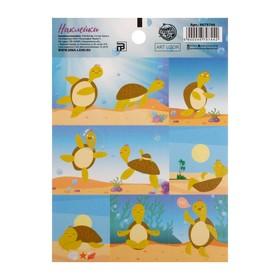 Бумажные наклейки «Черепашки », 11 х 15 см