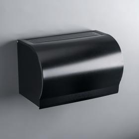 Держатель для туалетной бумаги на два рулона 20,5×12,5×12 см, цвет чёрный