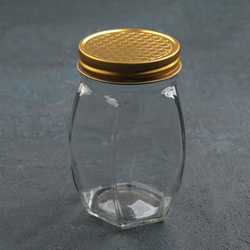 Банка для мёда «Соты», 500 мл, 8×12 см Ош