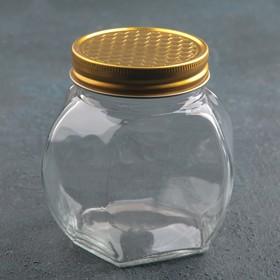 Банка для мёда «Соты», 500 мл, 9×7×9,5 см Ош