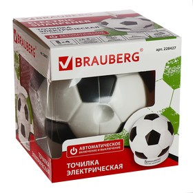 Точилка электрическая BRAUBERG 'Football', 1 отв, пит от 4 бат АА, доп смен лезвие 228427 Ош