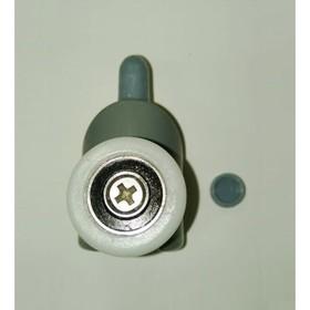 Ролик для душевой кабины 'Душ Сити' 1004N, 23 мм, нижний, с кнопкой Ош