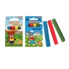 Мелки цветные «АЛГЕМ», в наборе 4 штуки, квадратные, МИКС