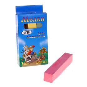 Мелки цветные для асфальта «АЛГЕМ», в наборе 3 штуки, квадратные Ош