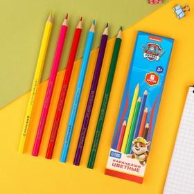 Карандаши цветные, 6 цветов, PAW PATROL Ош