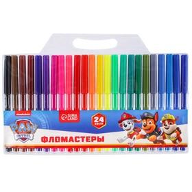 Фломастеры цветные, 24 цвета, PAW PATROL