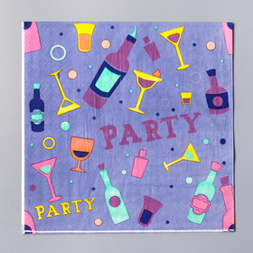 Салфетки бумажные 'Вечеринка' 33*33 см. набор 20 шт Ош