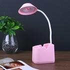 Лампа настольная сенсорная 18695203/1 12хLed 3 режима АКБ USB розовый 10,5х9,5х40,5 см