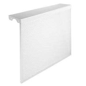 "Экран на чугунный радиатор ""Лидер"", 690х610х150 мм, 7 секций, металлический, белый"