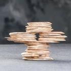 """Спил """"Грецкого ореха"""", овальный, d=3-4 см, h=3,5 мм - Фото 2"""