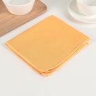Салфетки из микрофибры для уборки пыли «Блеск янтаря», 32×35 см