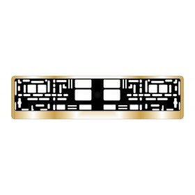 Рамка для автомобильного номера AVS RN-13 хром, золото Ош