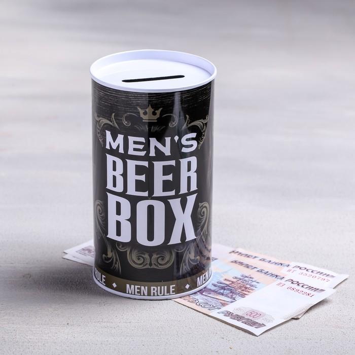Копилка Beer box, 6,5 х 12 см