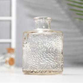 Бутылка для аромамасел/декора стекло 'Узорная' прозрачная 120 мл 8,6х5,8х5,8 см Ош