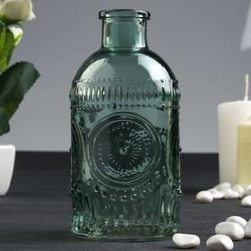 Бутылка для аромамасел/декора стекло 'Узорные круги' оливковая 250 мл 12,7х6х6 см Ош