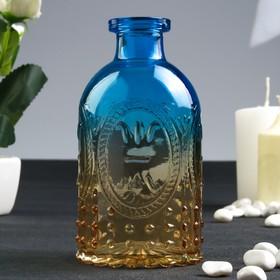 Бутылка для аромамасел/декора стекло 'Узоры и пузырьки' градиент 250 мл 12,5х6,4х6,4 см Ош
