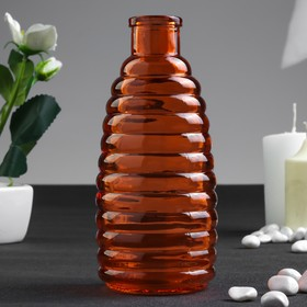 Бутылка для аромамасел/декора стекло 'Полоски' красно-оранжевая 250 мл 14,7х5,8х5,8 см Ош