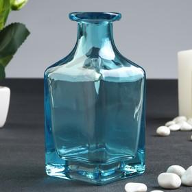 Бутылка для аромамасел/декора стекло 'Графин' бирюзовая 200 мл 11,8х5,4х5,4 см Ош