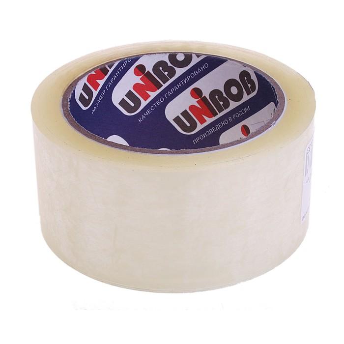 Клейкая лента UNIBOB 48мм*66м 45 мкм, прозрачная, индивидуальная упаковка