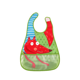 Нагрудник на липучке Happy Baby, от 6 месяцев, цвет green