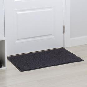 Коврик придверный влаговпитывающий, 2-х полосный иглопробивной, «Классик», 50×80 см, цвет серый