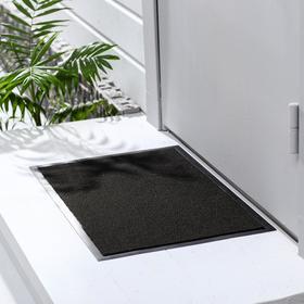 Коврик придверный влаговпитывающий, иглопробивной, «Эконом», 40×60 см, цвет чёрный Ош