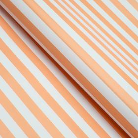 Бумага глянцевая, полоски, персиковая, 50 х 70 см Ош