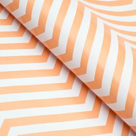 Бумага глянцевая, зигзаг, персиковая, 50 х 70 см Ош